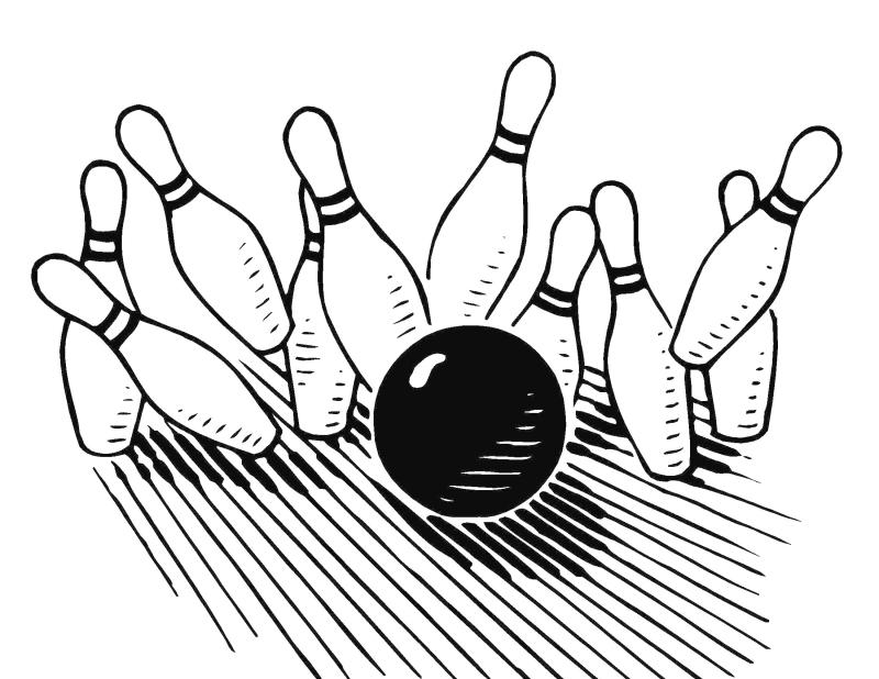 Bowling clipart black and white 3 » Clipart Station.