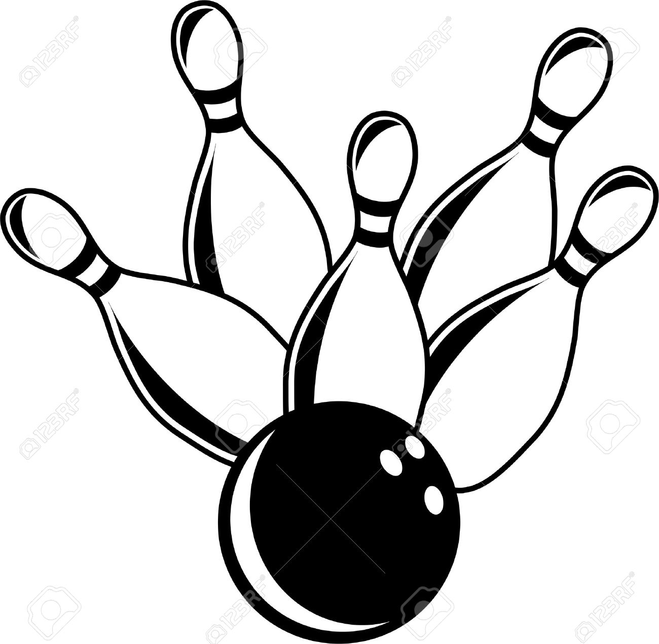 3914 Bowling free clipart.