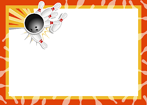 Bowling Clipart Frame.