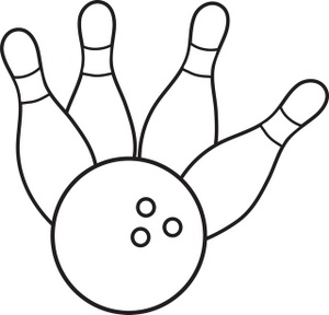 Bowling Pin And Ball Clipart.