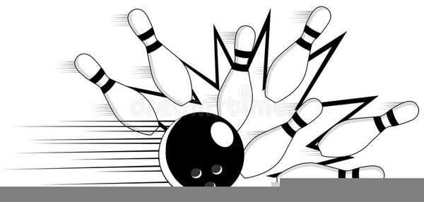 Pin Bowling Clipart.