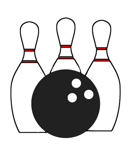 Bowling clipart black and white 1 » Clipart Station.