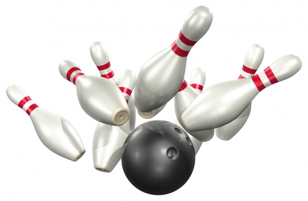 Free bowling clipart border.