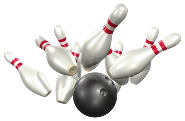 Free bowling clipart border.