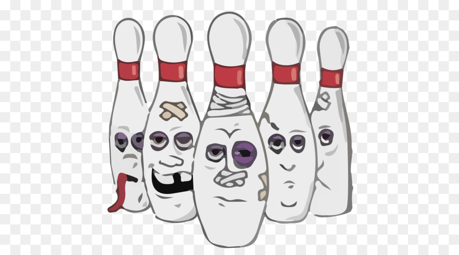 gives a split bowling funny clipart T.