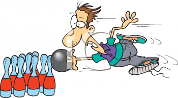 Funny bowling clipart kid 3.