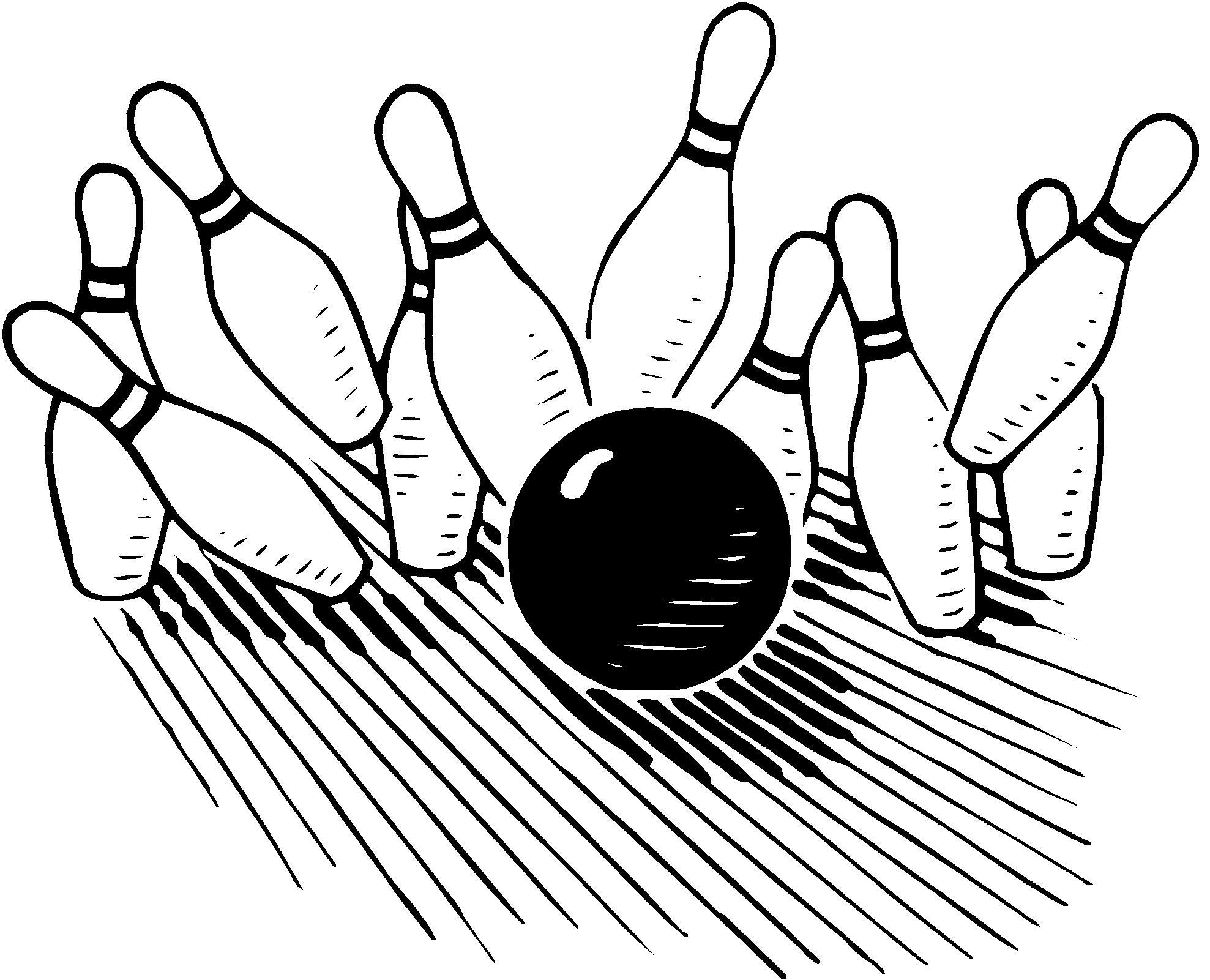 bowling lane clipart #10