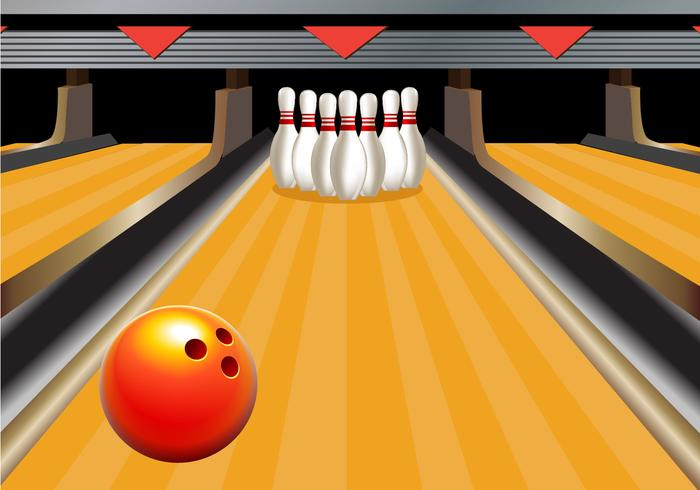 Bowling Alley Vector.