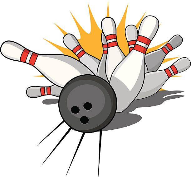 Royalty Free Bowling Strike Clip Art, Vector Images.