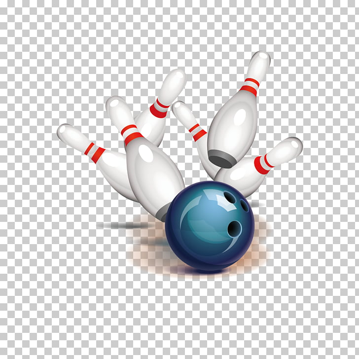 Bowling ball Bowling pin Strike , bowling decoration PNG.