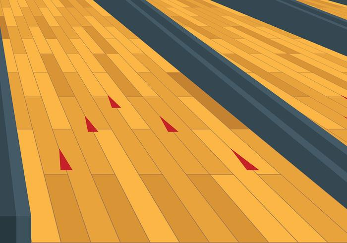 Free Bowling Lane Vector Background.