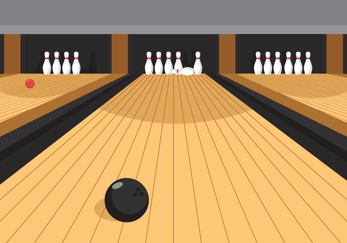 bowling lane clipart #9