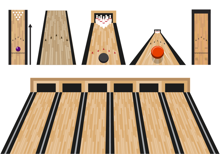 Download Free png Flat Bowling Lane Vector With.