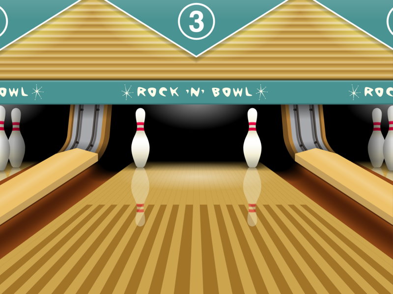 Retro Bowling Alley By Will Clark.