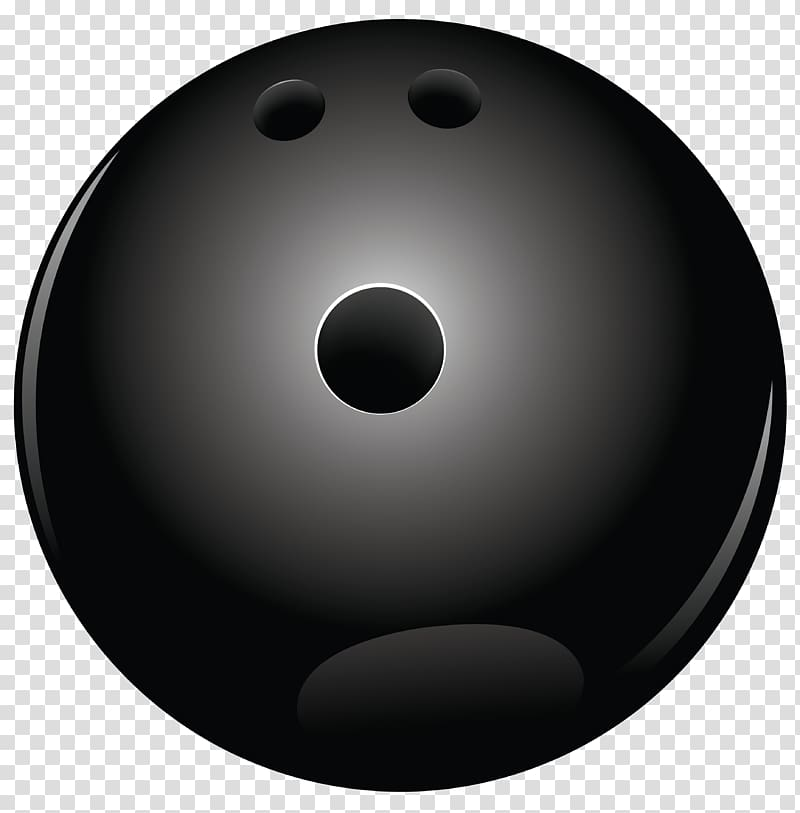 Black bowling ball illustration, Bowling ball Black and white Sphere.