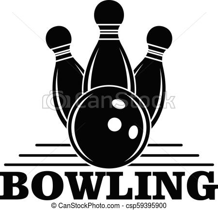 Bowling logo, simple style.