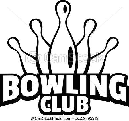 Old bowling logo, simple style.