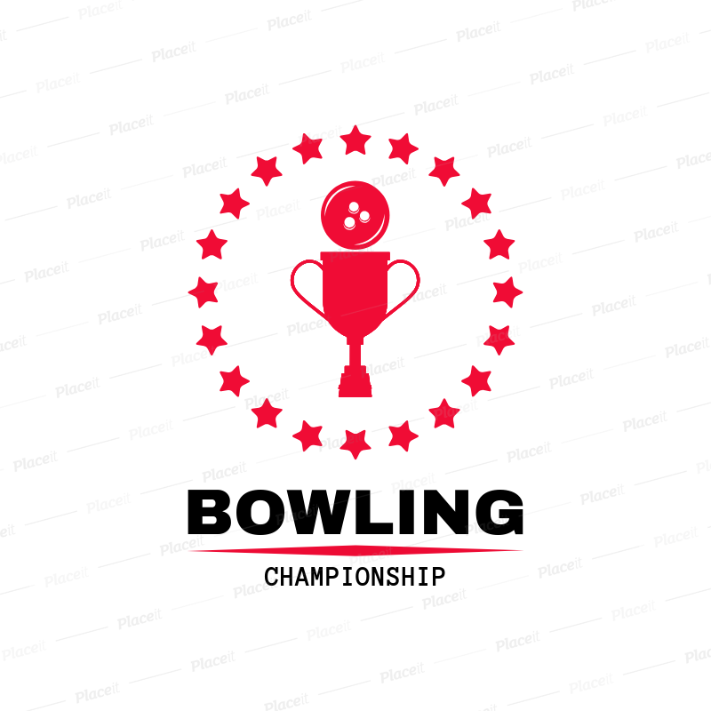Bowling Logo Generator for a Bowling Championship 1589a.