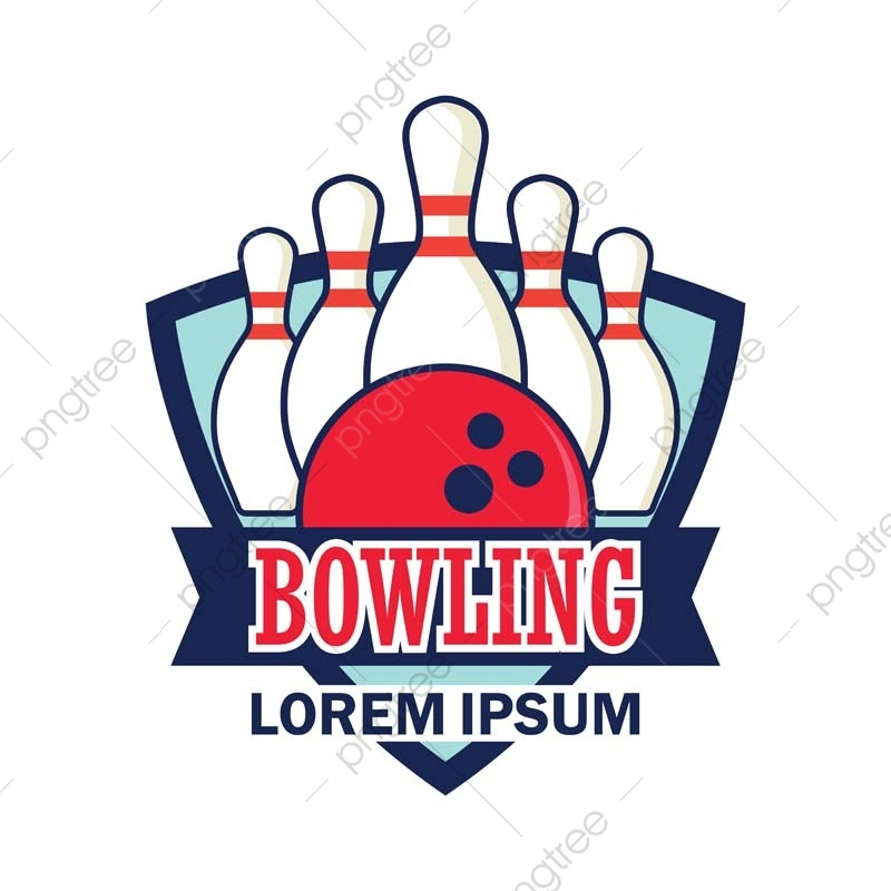 Bowling Logo With Text Space For Your Slogan / Tag Line Vector.