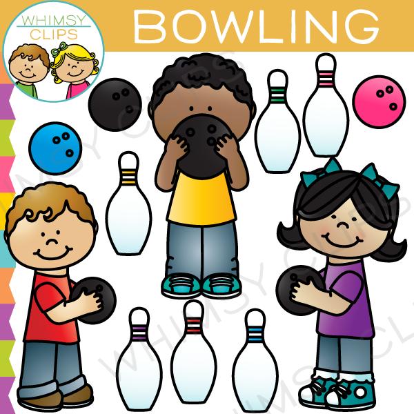Kids Bowling Clip Art.