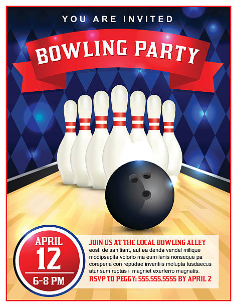Best Bowling Party Illustrations, Royalty.