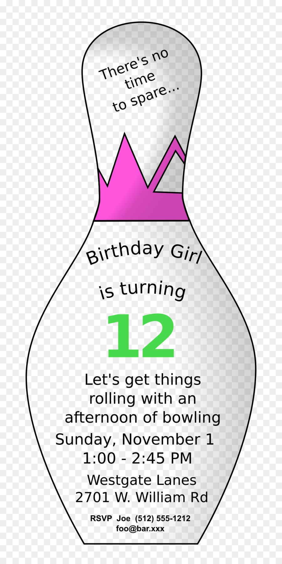 Birthday, Bowling, Party, transparent png image & clipart free download.