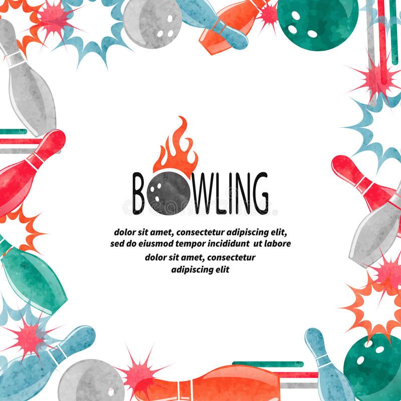 Bowling Border Stock Illustrations.
