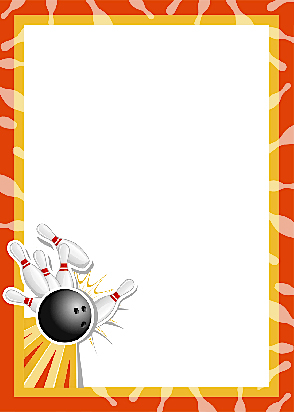 Bowling clipart border, Bowling border Transparent FREE for download.