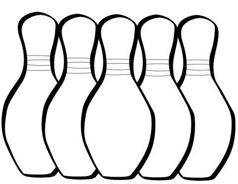 Bowling Pin Coloring Page Free Download Clip Art.