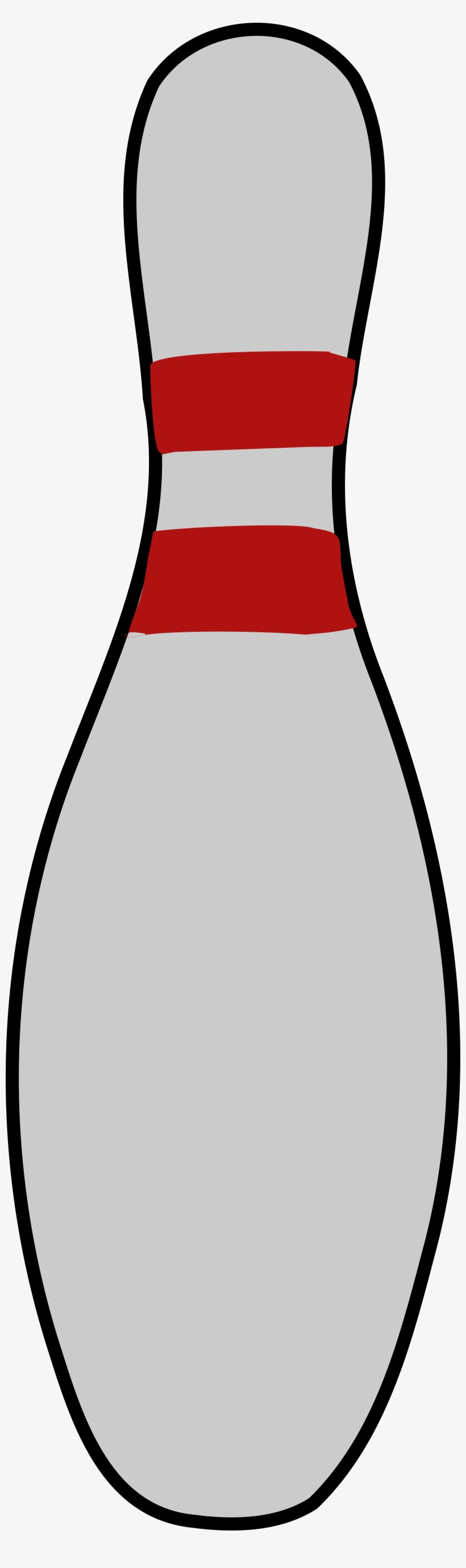 Single Clipart Bowling Pin.