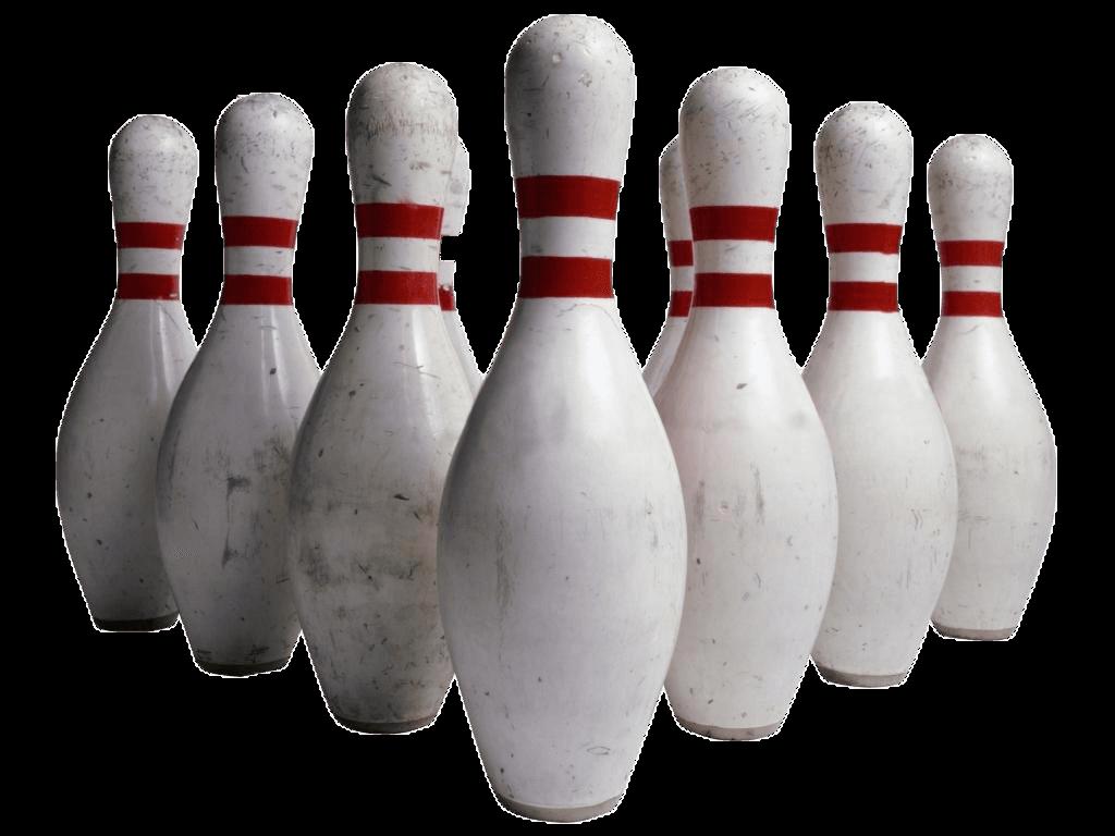 Bowling Pins transparent PNG.
