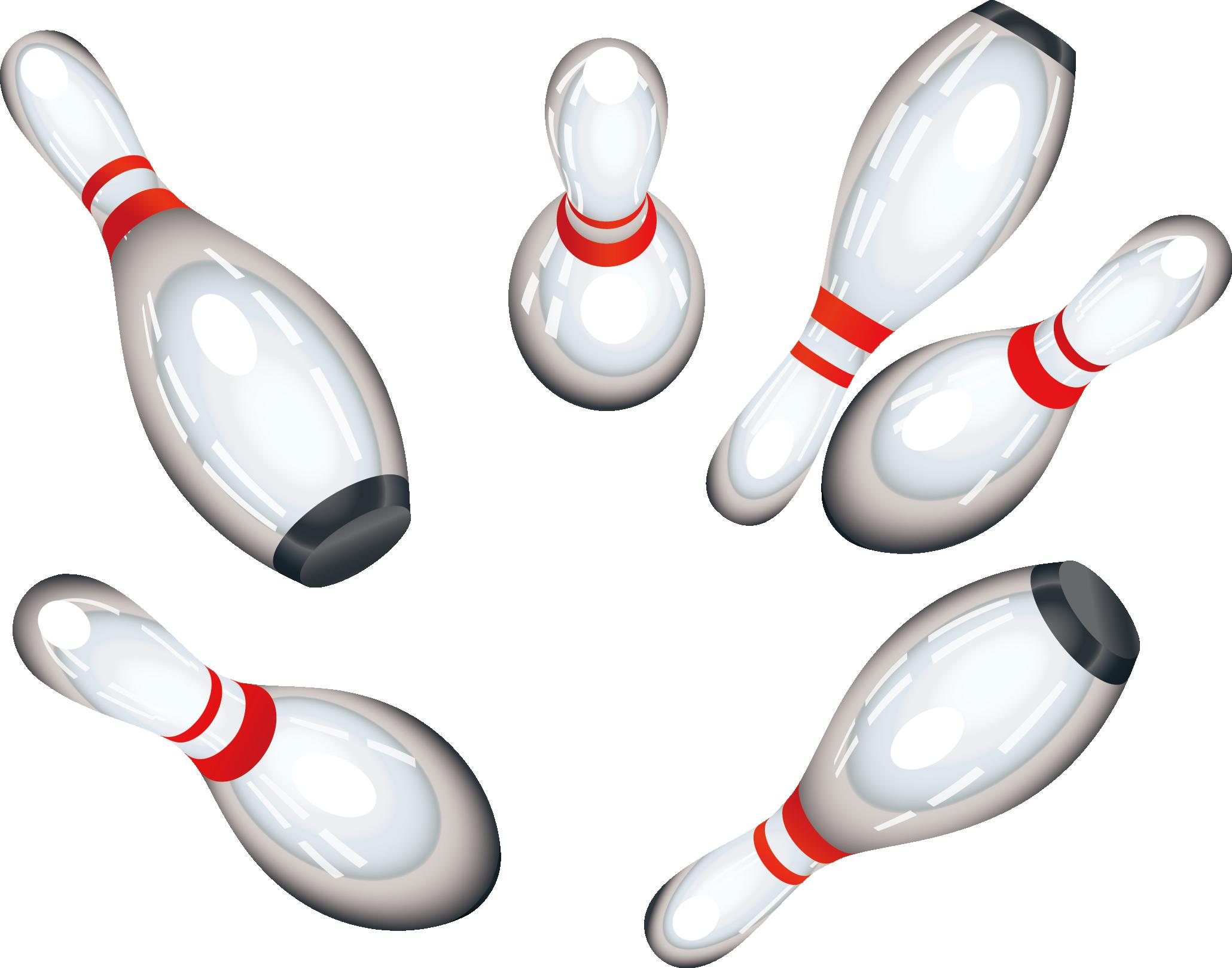 Clip Art Transparent Download Bowling Pins Clipart.