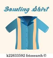 Bowling Shirt Clip Art Vectors.