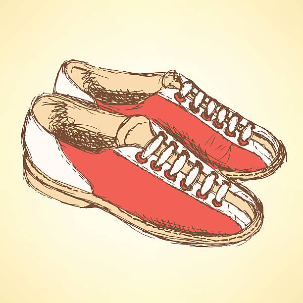 Bowling Shoes Illustrations, Royalty.