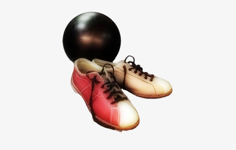 Vintage Drawing Man Bowling, Bowling Shoes And Bowling.