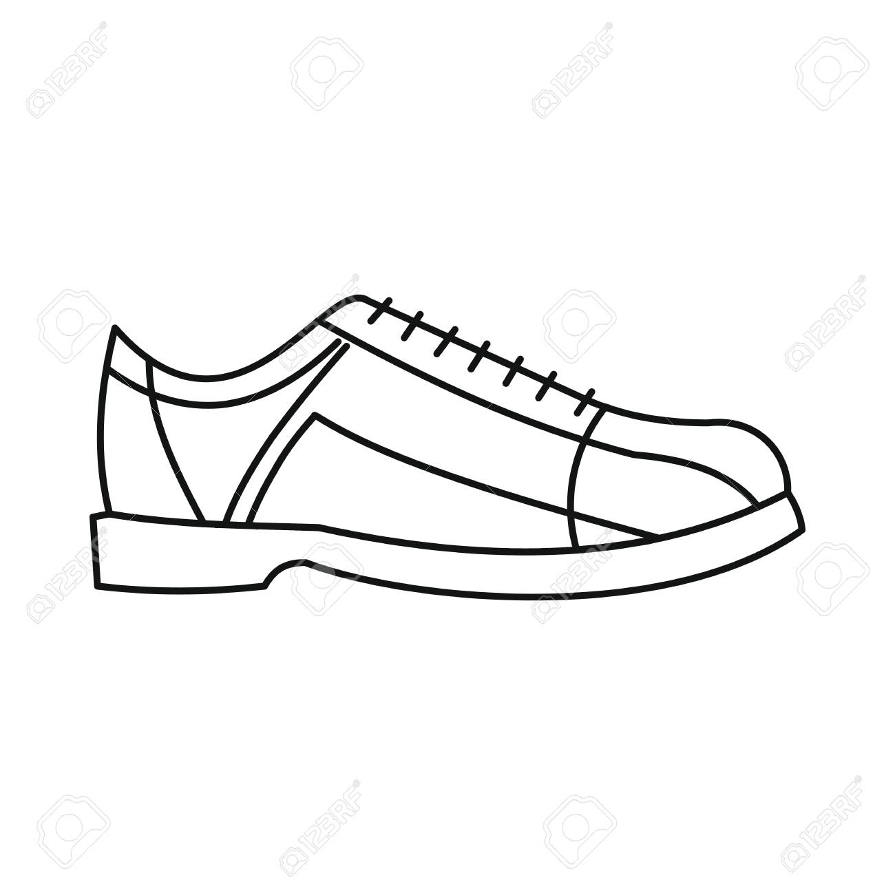 Bowling shoes icon in outline style vector illustration for design...