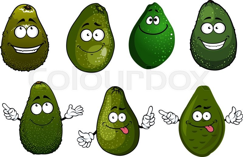 Showing post & media for Guacamole face cartoon.