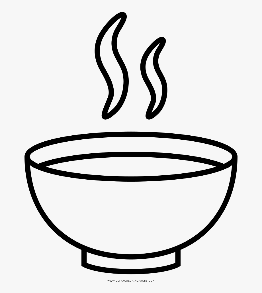 Soup Bowl Coloring Page.