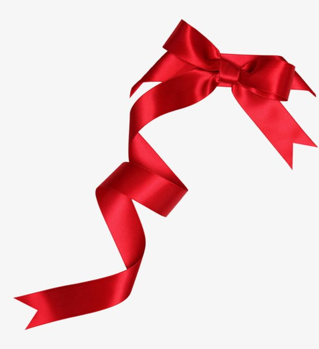 Red Bowknot Satin Ribbon Decoration Pattern PNG, Clipart.