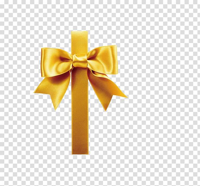 Gift wrapping Ribbon , Gold bowknot ribbon decoration.