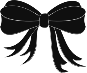 Clip Art Black And White Ribbons And Bows Clipart.