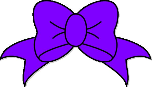 Purple bows clipart.