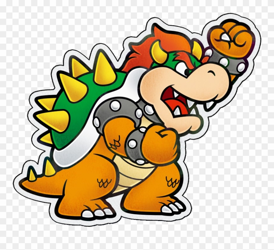 Paper Bowser Pj Artwork Clipart (#1981763).