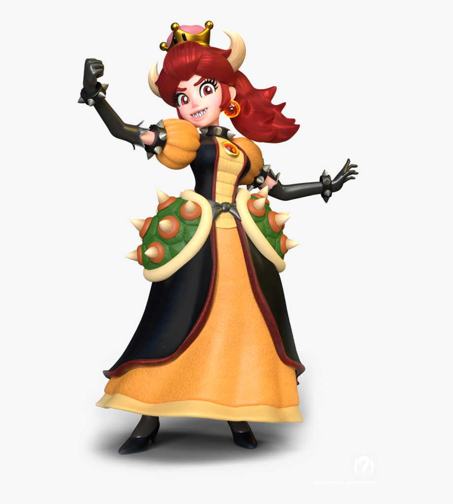 Mario And Bowsette , Transparent Cartoon, Free Cliparts.