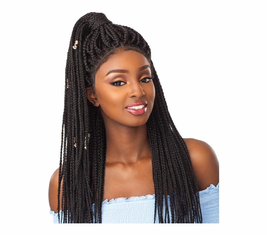 Small Parting Box Braids, Transparent Png Download For Free #3136730.