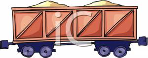 Colorful Cartoon of a Box Car.