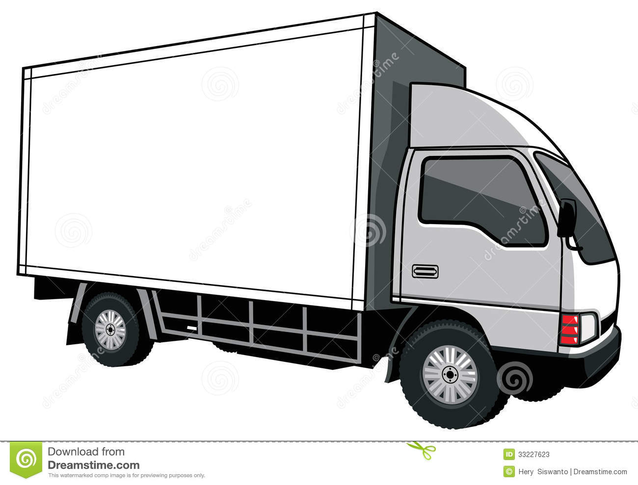 Delivery Car Blank Box Stock Photos, Images, & Pictures.