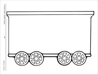 Clipart train car black and white.