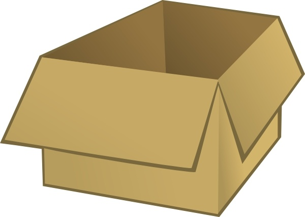 Open Box clip art Free vector in Open office drawing svg ( .svg.