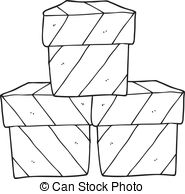Boxes Clipart Black And White & Free Clip Art Images #10129.